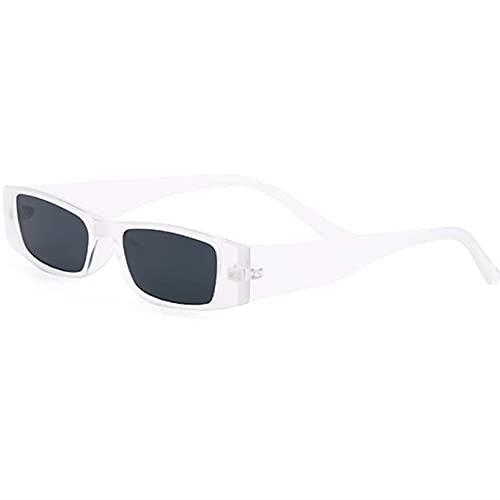 AMFG Gafas de sol de la moda de los hombres y las mujeres de las gafas de sol de la moda del marco, UV400, gafas de regalo de vacaciones (Color : E, Size : M)