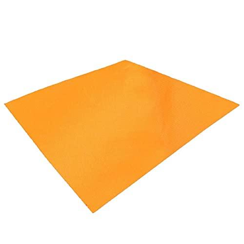TRIWONDER wasserdichte Hängematte Regenfliege Tarp Footprint Camping Shelter Boden Tuch Sonnenschirm Matte für Outdoor Wandern Strand Picknick (Orange, S - 98 x 59in)
