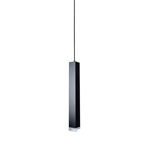 L.J.JZDY Araña Llevó la lámpara Colgante Regulable Luces de la Cocina Comedor Tienda Barra Decoración Cilindro de tuberías lámparas Colgantes Colgante Ligera (Body Color : Negro, Size : Cold)