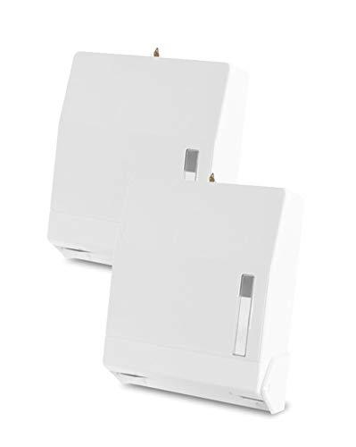 Funny Spender für 600 ZZ/V-Papierhandtücher, abschließbar (Spender, weiß, 2 Stück)