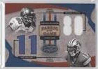 Michael Clayton; Roy Williams #35/80 (Football Card) 2005 Leaf Certified Materials - Fabric of the Game - Jersey Number [Memorabilia] #FG-90