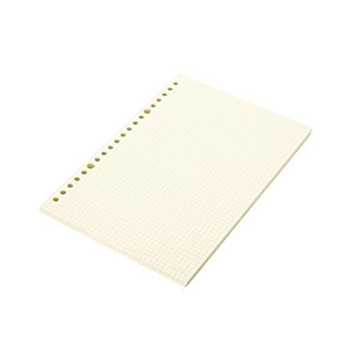 ZAZA Cuaderno Diario Papel En Blanco Papel De Cuaderno Disperso Papel De Reemplazo Hay Dos Estilos De Líneas Cuadradas Y Horizontales (60 Hojas) Cuadernos para Mujeres (Color : Squares, tamaño : A5)