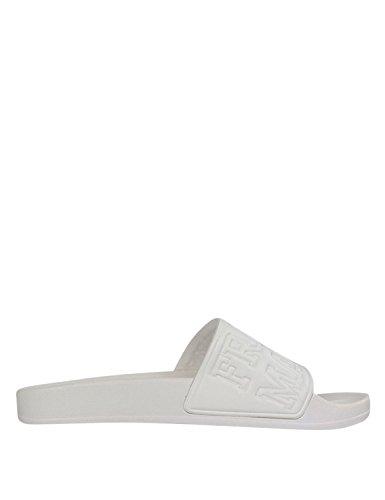 Franklin & Marshall Unisex Pool Slides White in Size 44