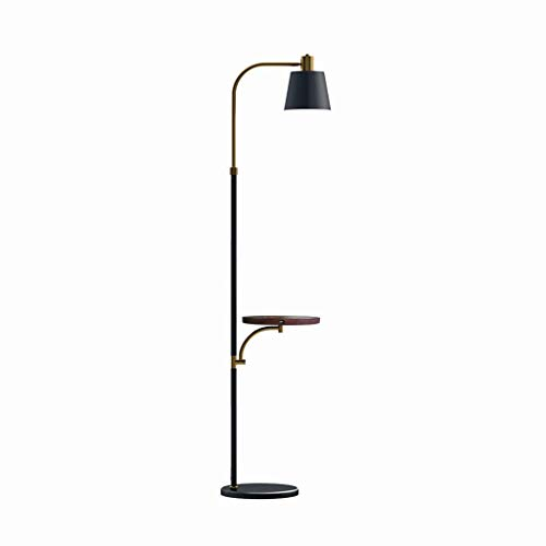 FACAIA Floor Lamp Mid Century Standing Light USB Charging Port and Wireless Charging for Living Room Bedroom Office Reading Stand Up Lamp (Color : Brown)