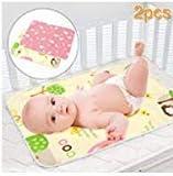 SACONELL - Cambiador de pañales para bebé, 2 unidades, impermeable, portátil,...