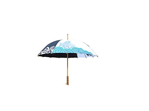 LSQJNDM pour Le Parapluie Droit CréAtif PéRiphéRique De Parapluie Gintama, Parapluies/Parasols Super Coupe-Vent, Longue Peinture SèChe De Parapluie en Bois
