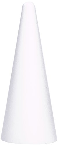 Rayher Hobby 3003700 Styropor-Kegel, Höhe 50 cm, Ø 20 cm