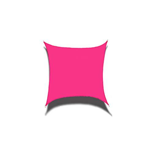 DIANPU Velas De Sombra para Patio, Cuadradas Impermeables Protección Solar Y Protección UV Velas De Sombra para Patio Exterior Y Jardín (2m*2m,Rosa roja)