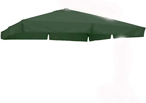 SUN GARDEN Ersatzbezug Ampelschirm eckig 320 x 320 cm Polyester Farbe: Moosgrün ohne Umkarton