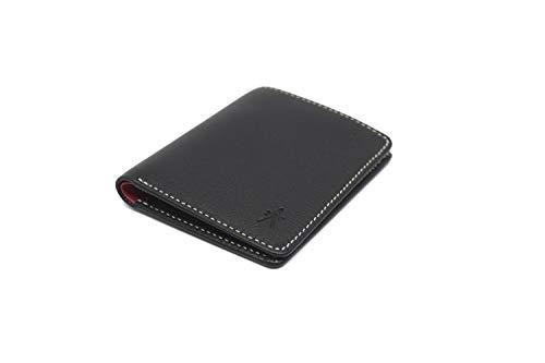 Alan Aldrik. Cartera de Piel para Hombre con protección RFID (MAX. 12 Tarjetas, Efectivo y Billetero) Moderna, Fina y Elegante. Color Negro