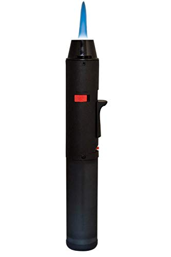 TRENDSKY Nachfüllbar Turbo Blue Laser-Flamme Feuerzeug Flambierbrenner Jetflamme Gas Sturmfeuerzeug Gourmetbrenner Bunsenbrenner Küchenbrenner Butan Gasbrenner