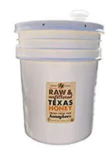 Raw, Unfiltered, Unpasteurized Texas Honey by Desert Creek Honey 5 Gallon (60 lbs) Bulk Bucket Non-GMO, Kosher