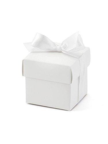 CF 10 boîtes blanches avec nœud