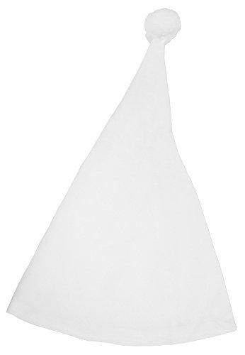 Schlafmütze mit Bommel - Weiß - Zipfelmütze zum Kostüm für Party und Fasching