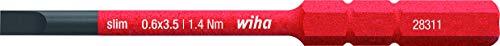 Wiha Bit slimBit electric Schlitz (41159) 3,5 mm x 75 mm für tiefliegende Schrauben, Allrounder für Elektriker