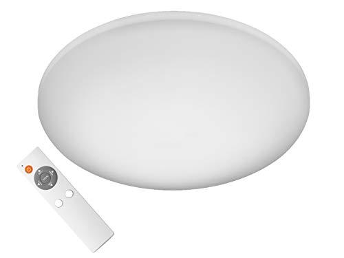 LED Deckenleuchte Ø 40cm mit Fernbedienung - Lichtfarbe einstellbar / stufenlos dimmbar / Nachtlichtfunktion – vielseitig einsetzbar & Badezimmer geeignet