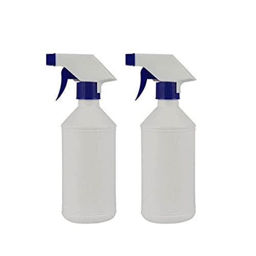 Vaporiser Bouteille Vide Flacon Pulvérisateur en Plastique Fuite Bouteilles Spray Pulvérisateur pour Preuve Chimique Solution De Nettoyage 500ml Blanc