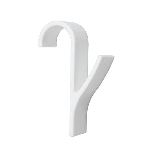 Gaosu - Percha de plástico para toalla, radiador, toallero, soporte de gancho de baño Gancho para toallas de baño (4 unidades), color blanco