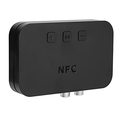 Receptor Bluetooth Ti-800, Receptor de audio RCA USB inalámbrico Bluetooth 5.0, con puerto auxiliar A2DP de 3,5 mm para altavoz de coche, compatible con NFC, conexión de puerto de audio dual, negro