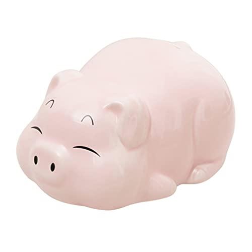Organizadores de bolso Hucha Tanque De Almacenamiento De Monedas Hucha De Cerdo De Dibujos Animados Lindo Hucha De Cerámica Alcancía Dormitorio Sala De Estar ( Color : Pink , Size : 7.9*5.9*4.5 inch )