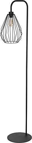 Stehlampe Schwarz Designerleuchte Metall 153cm außergewöhnlicher Schirm OHLA Moderne Lampe Wohnzimmer