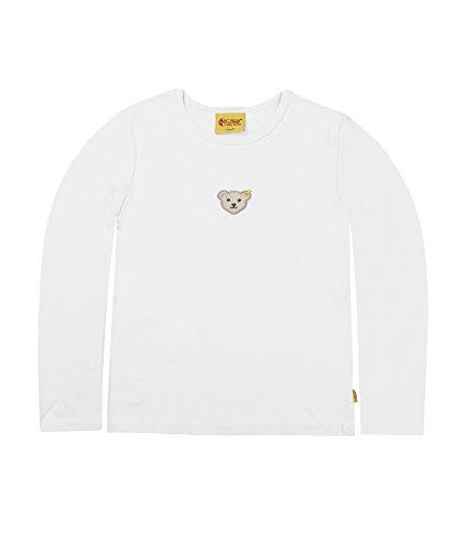 Steiff - T-Shirt (Check) - Mixte Bébé, Blanc (Bright White White 1000), 5 ans