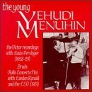 The Young Menuhin: The Early Victor Recordings - Bruch: Violin Concerto No.1 in G minor, Op. 26 / other short works by Bloch {Nigun}, Spohr, Handel, Mozart, Achron, Fiocco, Ries, etc. by unknown (1994-08-17)