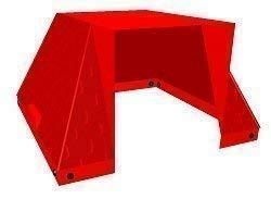 move and stic 875060 - Dach rot als Zubehör für alle Baukästen, Spielhäuser, Ergänzung/ Erweiterung
