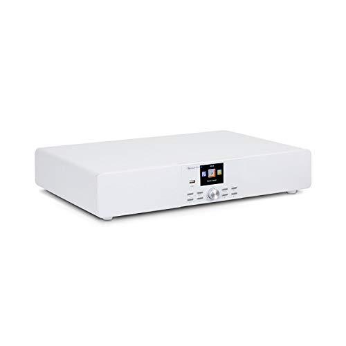 auna Stealth Base - Connect Soundbase, 2 x 15 W + 30 W RMS-Leistung, Internet/DAB+/FM Radio, Bluetooth-Funktion, AirMusic Control App, 2,8