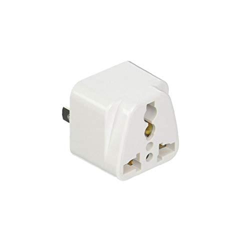 Rrunzfon Adaptador De Enchufe Universal De Viaje Portátil Conveniente del Enchufe De Energía En La Conversión De Cn a EE.UU. Blanca
