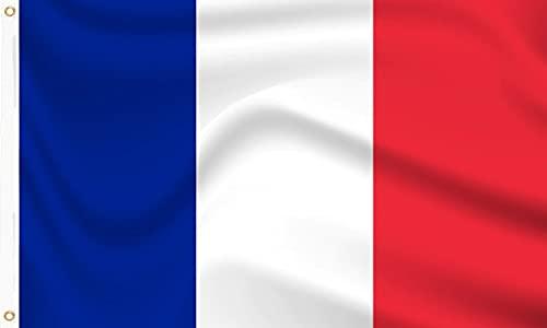 Frankreich Flagge Euros Weltmeisterschaft Länder Polyester France Flag 90 x 150 cm Musikfestival