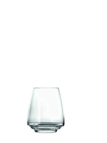 Zafferano Esperienze Acqua-Vini Bianchi Bicchiere in Tumbler Vetro, Altezza 110 mm, Diametro 89 mm, Capacità 45 cl - Set 6 Pezzi