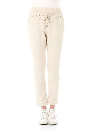 Please Damen Jeans P61A - CV94U1 - Baggy Fit - Beige - Almond Milk XXS XS S M L XL 98% Baumwolle Stretchjeans Damenjeans, Größe:XL, Farbvariante:Almond Milk (3118)
