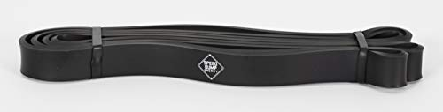 Speed Bump Energy Muscle Band - Black Resistance Tension Training (35 lbs - 70 lb) Resistance Strength Band for Workout and Stretching - Rehab - Calisthenic Training Workouts 100% Latex