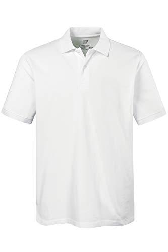 JP 1880 Herren große Größen bis 8XL, Poloshirt, Oberteil, Knopfleiste, Hemdkragen, Pique, weiß 5XL 702560 20-5XL