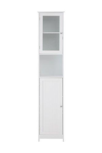 Premier Housewares 2402061 Premier Interiors badkamerkast, wit, MDF, 30 x 40 x 189