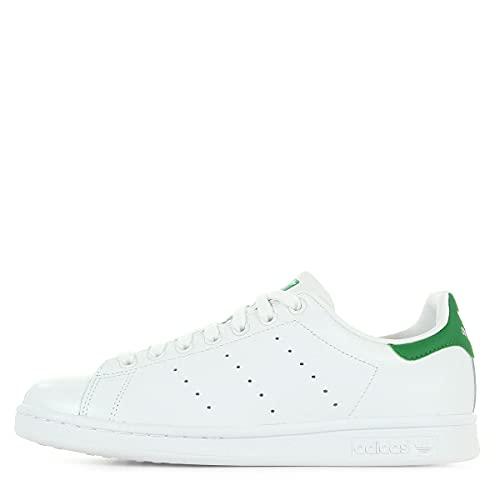 adidas Stan Smith Scarpe da ginnastica, Uomo, Bianco (ftwr white/core white/green), 55 EU