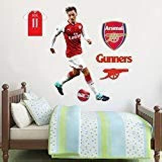 Official Arsenal FC - Mesut Özil Player Decal + Gunners Wall Sticker Set Decal Vinyl Poster Print Mural (183cm Height)