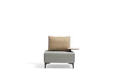 talfa Aluminium Lounge Einzelsofa in Grau, gepolstert - Freedom Multifunktions-Einzelsofa