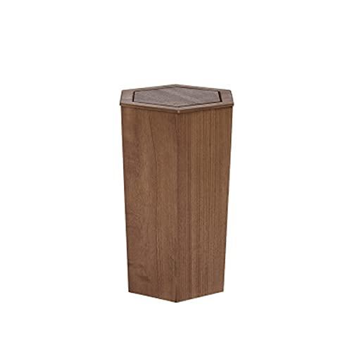 Papeleras Finas Puntos de reciclaje hechos a mano 18L / 4.7Gal con cestas de residuos de color de madera de la tapa para interiores y exteriores 15.7 pulgadas X4 .7 pulgadas. Para cocina oficina hogar
