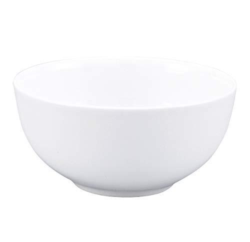CAIJINJIN Bowl Pure White Accueil 4.5 pouces Bone China Bowl Set Soup Bowl/bol de riz/Dessert Bowl 6 Sets