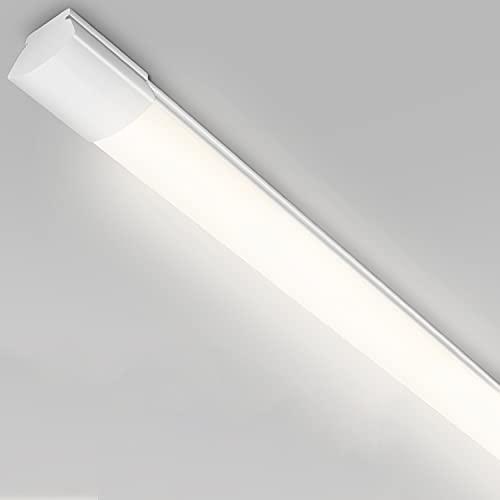 LED Feuchtraumleuchte 120CM, 25W 2800LM led Deckenleuchte Röhre, LEOEU IP65 Wasserdicht LED Deckenlampe für Garage Lager Werkstatt Bad Feuchtraum Büro Keller Shop Neutralweiß 4000K