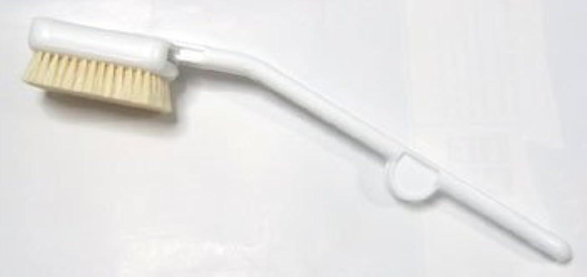 アパル優越飛ぶドイツ faller社製 天然 白色 豚毛 ボディ ブラシ ホワイト樹脂製
