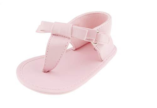 Glamour Girlz Sandales de vacances pour bébé fille avec nœud en dentelle Rose 11 0-3 mois
