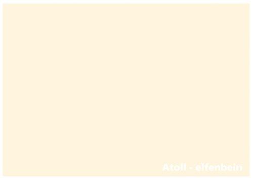 Tonkarton - Tonpapier - Tonzeichenpapier - 100 Blatt DIN A4-160g/m² Farbe: Atoll-elfenbein (22339)