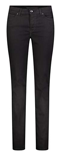 MAC Jeans Damen Hose Melanie Forever Denim, Black-black, 40W / 32L