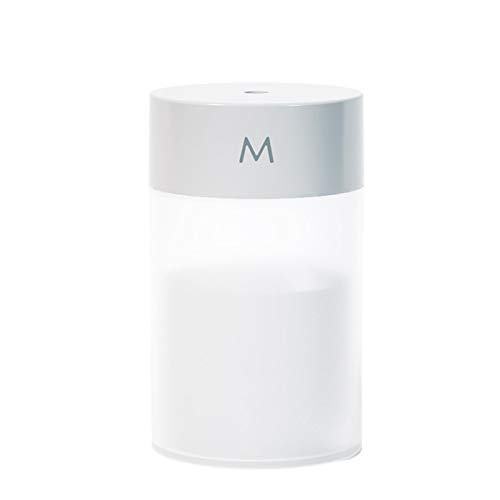 Decdeal Humidificador Portátil Pequeño de 260 ML,Mini Humidificador USB para Automóvil,Humidificador de Escritorio,Luz Nocturna Colorida/Silencioso/Apagado Automático Sin Agua,Alimentado por USB