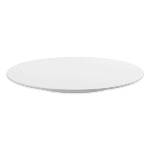 thermohauser Tortenplatte aus Melamin weiß, rund, Durchmesser 30,0x2,5 cm, mit feststehendem Fuß, Kunststoff