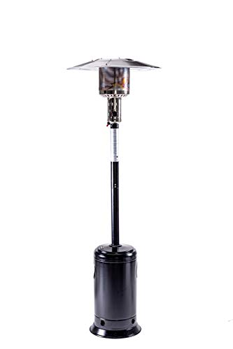 LEGACY HEATING Commercial Gas Propane Patio Heater for outdoor use, 30' x 30' x 88', Hammered Black, 47000BTU, Powder Coated Finish