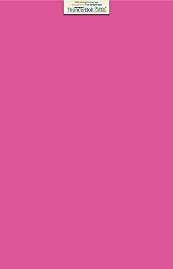 50 Bright Hot Pink 60# Text (=24# Bond) Paper Sheets 11 X 17 Inches Colored Sheets Tabloid or Ledger Size - 60 Pound is Not Card Weight - Quality Smooth Paper Surface